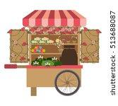 flowers cart icon | Shutterstock .eps vector #513688087