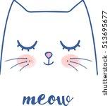 Stock vector cute cat 513695677