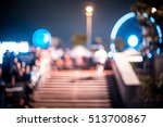abstract motion blurred people... | Shutterstock . vector #513700867