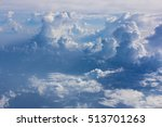 beautiful  dramatic clouds and... | Shutterstock . vector #513701263