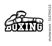 boxing banner. boxer in helmet.