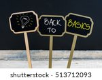 concept message back to basics... | Shutterstock . vector #513712093