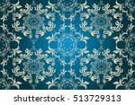 seamless ornament on background.... | Shutterstock .eps vector #513729313