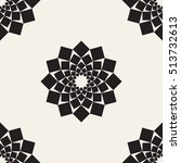 seamless pattern with dotted... | Shutterstock .eps vector #513732613