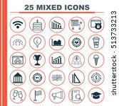 set of 25 universal editable... | Shutterstock .eps vector #513733213