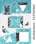 modern trendy geometric... | Shutterstock .eps vector #513765463