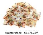 euro money in bunch | Shutterstock . vector #51376939