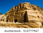 obelisk tomb and bab as siq...   Shutterstock . vector #513777967