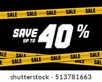 big sale banner with yellow... | Shutterstock .eps vector #513781663