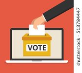 voting online concept. hand... | Shutterstock .eps vector #513784447