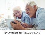senior couple using digital... | Shutterstock . vector #513794143