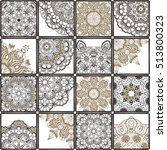 hand drawn seamless patchwork... | Shutterstock .eps vector #513800323
