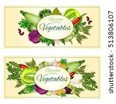 vegetarian healthy garden... | Shutterstock .eps vector #513806107