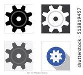 gear. set of icon.vector... | Shutterstock .eps vector #513819457
