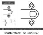 one finger vertical scroll... | Shutterstock .eps vector #513820357