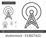 transmitter vector line icon...   Shutterstock .eps vector #513827623