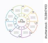 thin line pie chart infographic ...   Shutterstock .eps vector #513847453