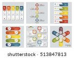 collection of 6 design colorful ... | Shutterstock .eps vector #513847813