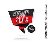 black friday sale icon design | Shutterstock .eps vector #513851863