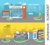 best and high school web... | Shutterstock .eps vector #513854287
