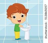 vector illustration of a kid... | Shutterstock .eps vector #513865057