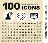 help and support vector icons.... | Shutterstock .eps vector #513883927