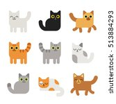 Different Cartoon Cats Set....