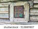 Window Of Old Wooden House....