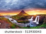 the picturesque sunset over... | Shutterstock . vector #513930043