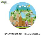 infographic green ecology city... | Shutterstock .eps vector #513930067
