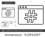 hashtag vector line icon... | Shutterstock .eps vector #513931057