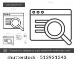 data search vector line icon... | Shutterstock .eps vector #513931243