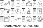 ecology vector line icon set... | Shutterstock .eps vector #513933583