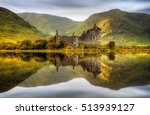 kilchurn castle reflections in... | Shutterstock . vector #513939127