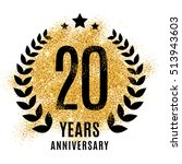 twenty years gold anniversary... | Shutterstock . vector #513943603