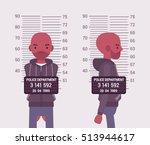 mugshot of a young black man... | Shutterstock .eps vector #513944617