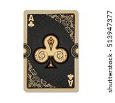 Ace Of Clubs. Playing Card...