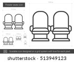theater seats vector line icon... | Shutterstock .eps vector #513949123