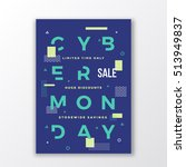 cyber monday minimal swiss... | Shutterstock .eps vector #513949837