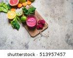 detox juice | Shutterstock . vector #513957457