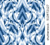 seamless abstract ikat pattern | Shutterstock .eps vector #513972127