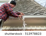side view of a home owner on a... | Shutterstock . vector #513978823