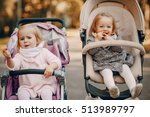 young mother walking with her... | Shutterstock . vector #513989797