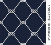 seamless nautical rope pattern. ... | Shutterstock .eps vector #513993073
