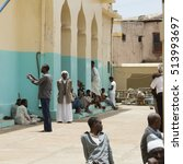 Small photo of HARAR, ETHIOPIA-APRIL 17, 2015: People worship at the Aw Abdal Mosque, largest mosque in the holy city of Harar, Ethiopia