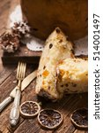 panettone. tradional italian... | Shutterstock . vector #514001497