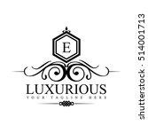 luxury logo template in vector... | Shutterstock .eps vector #514001713
