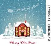 merry christmas card. vector... | Shutterstock .eps vector #514006117