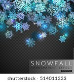 falling snowflakes on... | Shutterstock .eps vector #514011223