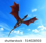 Blue Sky Red Dragon War Flying...